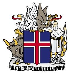 Skjaldarmerkið til smækkunar fyrir skjámiðla