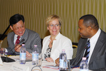 Mr. Sha Zukang, Under-Secretary of Economic and Social Affairs, Mrs. Ingibjörg Sólrún Gísladóttir, Minister for Foreign Affairs of Iceland, and Mr. Christopher Sinckler, Foreign Minister of Barbados